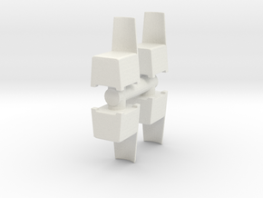 Modern Plastic Chair (x4) 1/48 in White Natural Versatile Plastic