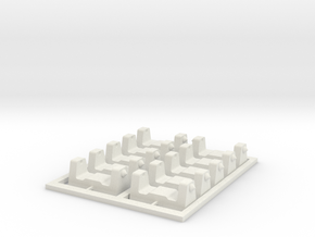 N scale  6.5mm Adapter_x10 sets in White Natural Versatile Plastic