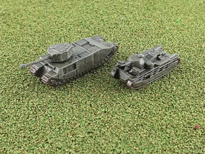 Independent & T-O.G 2 Heavy Tanks 1/285 6mm in Smooth Fine Detail Plastic