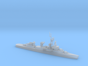 1/1000 Scale 4 Gun Fletcher Destroyer 1950 in Smooth Fine Detail Plastic