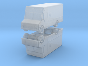 UPS Delivery Van (x2) 1/285 in Smooth Fine Detail Plastic