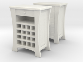 Wine Cabinet (x2) 1/48 in White Natural Versatile Plastic