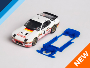 1/32 Falcon Porsche 924 Chassis for Slot.it SW pod in White Natural Versatile Plastic