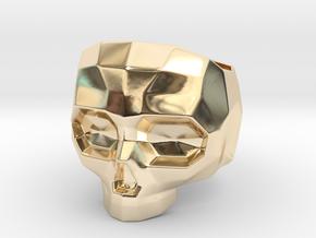 Lapidated Skull - Size 10 (inner diameter = 19.76  in 14K Yellow Gold