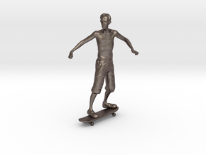 Skater 1:32 in Polished Bronzed Silver Steel