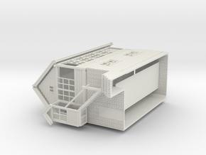 LK71 Leek Station signal box in White Natural Versatile Plastic