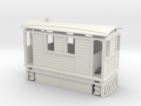 009 Tram Engine  in White Natural Versatile Plastic