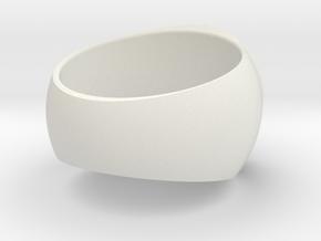 Hercules Ring Size 7 in White Premium Versatile Plastic