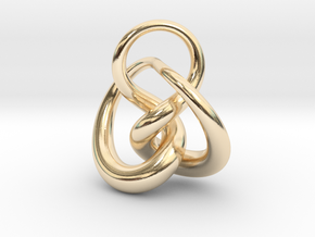 Knot F in 14K Yellow Gold