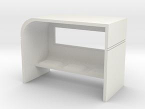 Modern Bus Shelter 1/76 in White Natural Versatile Plastic