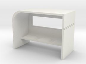 Modern Bus Shelter 1/56 in White Natural Versatile Plastic