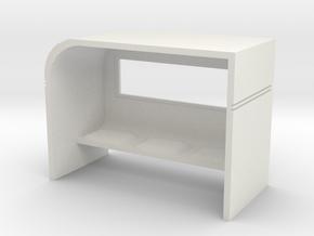 Modern Bus Shelter 1/43 in White Natural Versatile Plastic