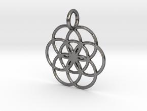 Creator Pendant in Polished Nickel Steel