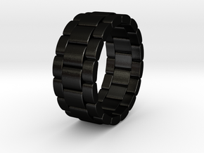 Tibalda - Ring in Matte Black Steel: 6 / 51.5