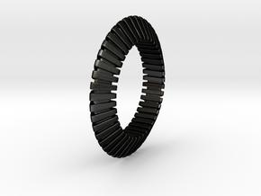 Patrick Triangle - Ring  in Matte Black Steel: 6 / 51.5