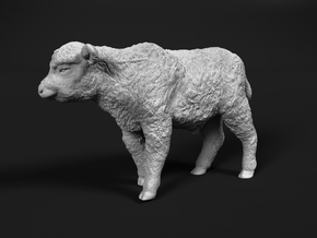 Highland Cattle 1:76 Walking Calf in Smooth Fine Detail Plastic