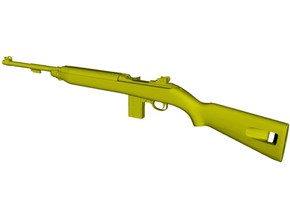 1/24 scale Springfield M-1 Carbine rifle x 1 in Smooth Fine Detail Plastic