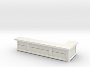 Bar Counter (right corner) 1/100 in White Natural Versatile Plastic