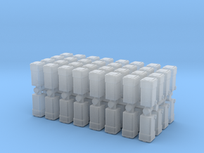 Waste Container Bin (x64) 1/400 in Smooth Fine Detail Plastic