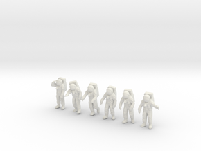Apollo 11 Astronauts / 1:144 in White Natural Versatile Plastic