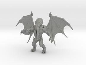 Cthulhu kaiju monster 70mm miniature game fantasy in Gray PA12