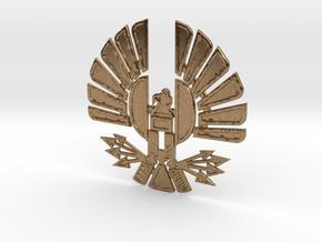 'Mockingjay' Panem Sigil Pendant for neclace in Natural Brass