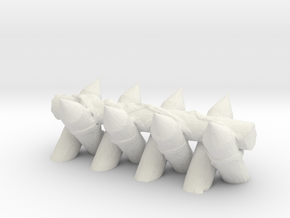 Spiked Barricade 1/43 in White Natural Versatile Plastic