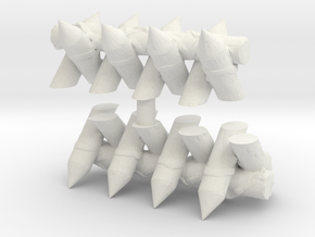 Spiked Barricade (x2) 1/120 in White Natural Versatile Plastic