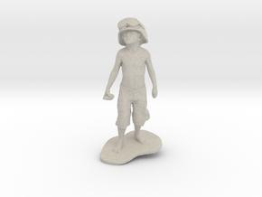 Schoony - Boy Soldier (15cm Tall) in Natural Sandstone