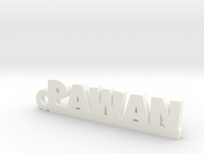 PAWAN_keychain_Lucky in White Processed Versatile Plastic