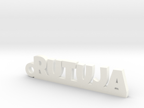 RUTUJA_keychain_Lucky in White Processed Versatile Plastic