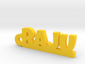 RAJU_keychain_Lucky in Yellow Processed Versatile Plastic