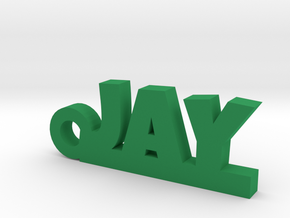 JAY_keychain_Lucky in Green Processed Versatile Plastic