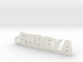 SHREYA_keychain_Lucky in White Processed Versatile Plastic