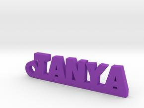 TANYA_keychain_Lucky in Purple Processed Versatile Plastic
