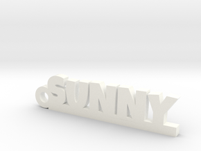 SUNNY_keychain_Lucky in White Processed Versatile Plastic