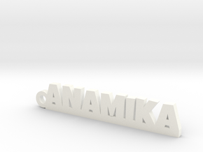 ANAMIKA_keychain_Lucky in White Processed Versatile Plastic