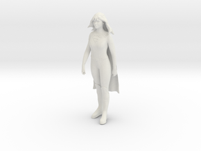 Melissa Benoist Supergirl Sculpture in White Natural Versatile Plastic: Extra Small