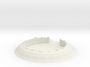 Gun Emplacement 1/72 in White Natural Versatile Plastic