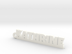 KATHRINE_keychain_Lucky in White Processed Versatile Plastic