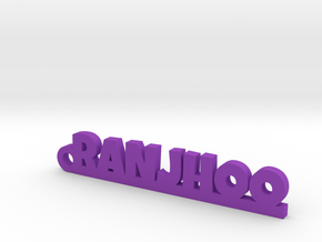 RANJHOO_keychain_Lucky in Purple Processed Versatile Plastic