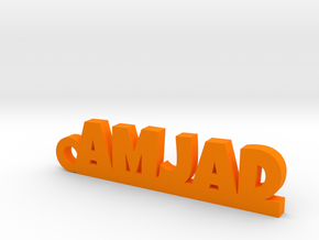AMJAD_keychain_Lucky in Orange Processed Versatile Plastic