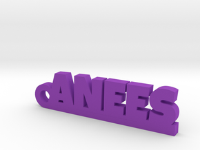 ANEES_keychain_Lucky in Purple Processed Versatile Plastic