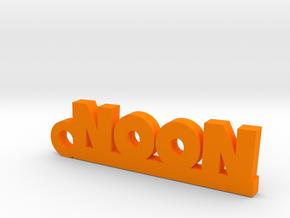 NOON_keychain_Lucky in Orange Processed Versatile Plastic