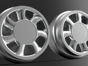 1/64 Mustang Cobra wheels 8mm Dia - 4 sets in Smoothest Fine Detail Plastic