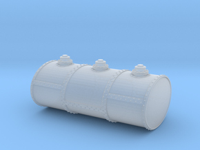 HO Scale Three Cell Fuel Tank in Smooth Fine Detail Plastic