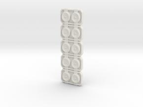 Turbo Buckle x5 LC  in White Natural Versatile Plastic