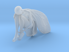 Resting Fairy in Smooth Fine Detail Plastic