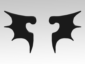 Bat Wing Vehicle Icons x32 in Smooth Fine Detail Plastic