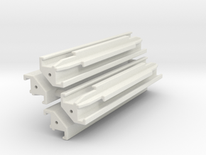 Verbau Eckträger 2.7m Set / shoring rail corner in White Natural Versatile Plastic: 1:50